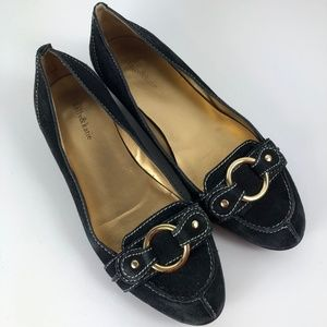Kelly and Katie Black Suede Flats Size 6